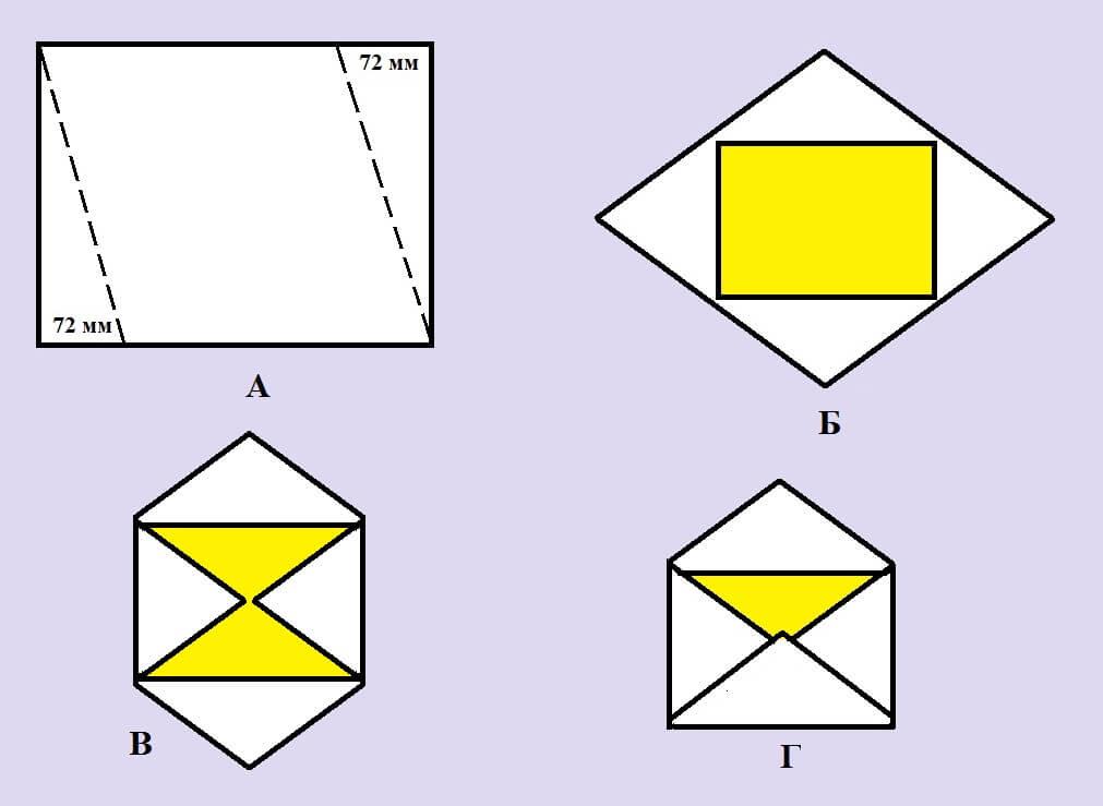 Сделать конверт из бумаги а4 своими руками
