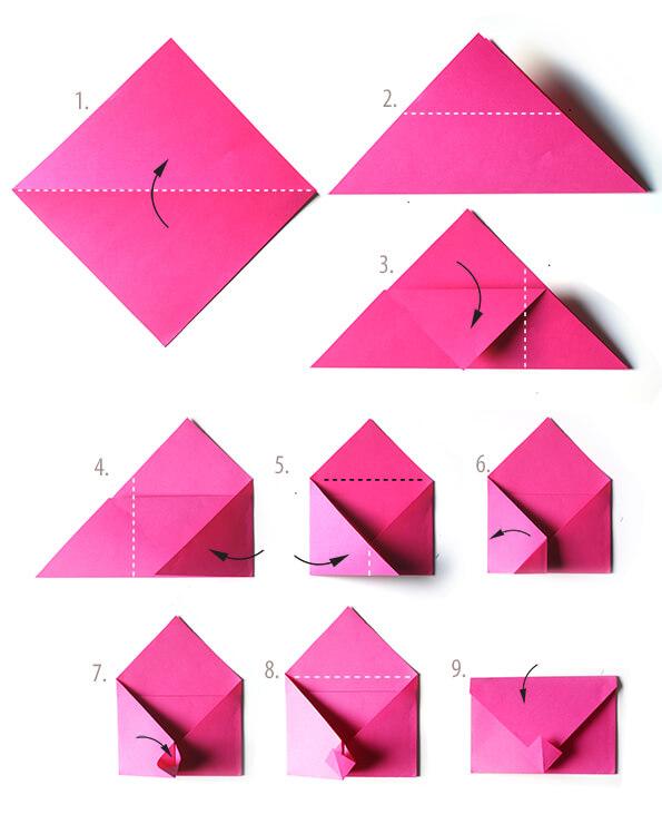 стрижки как сложить бумагу для открытки черный белый цвета