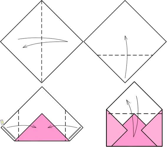 Как сделать большой конверт из бумаги