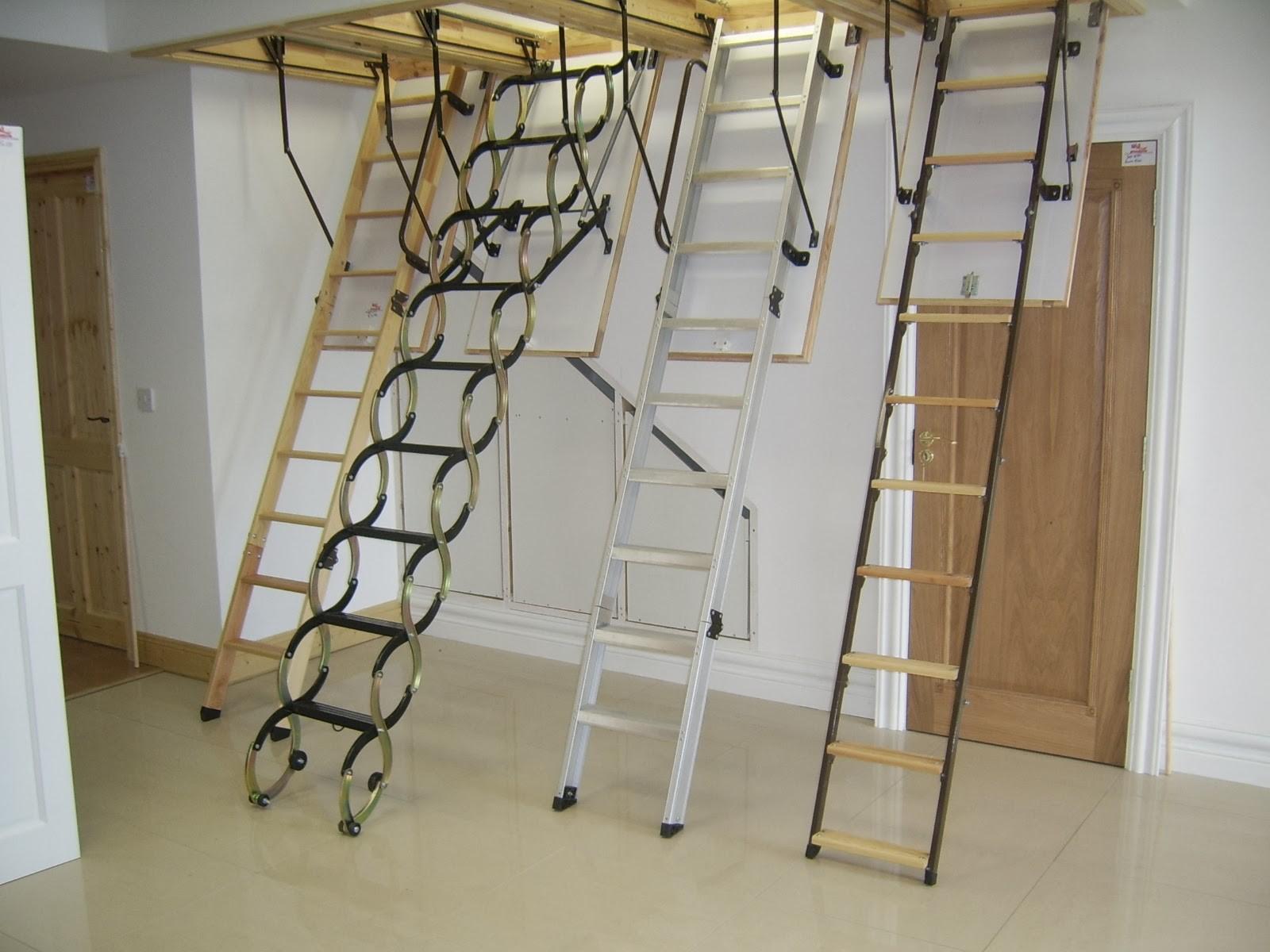 Складные лестницы на чердак
