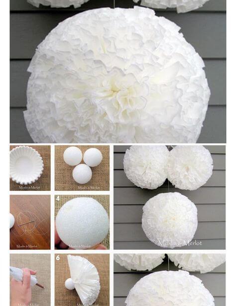 Как сделать шар из бумаги схема