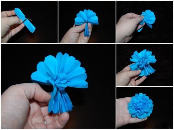 Как сделать воздушный шар из бумаги поэтапно