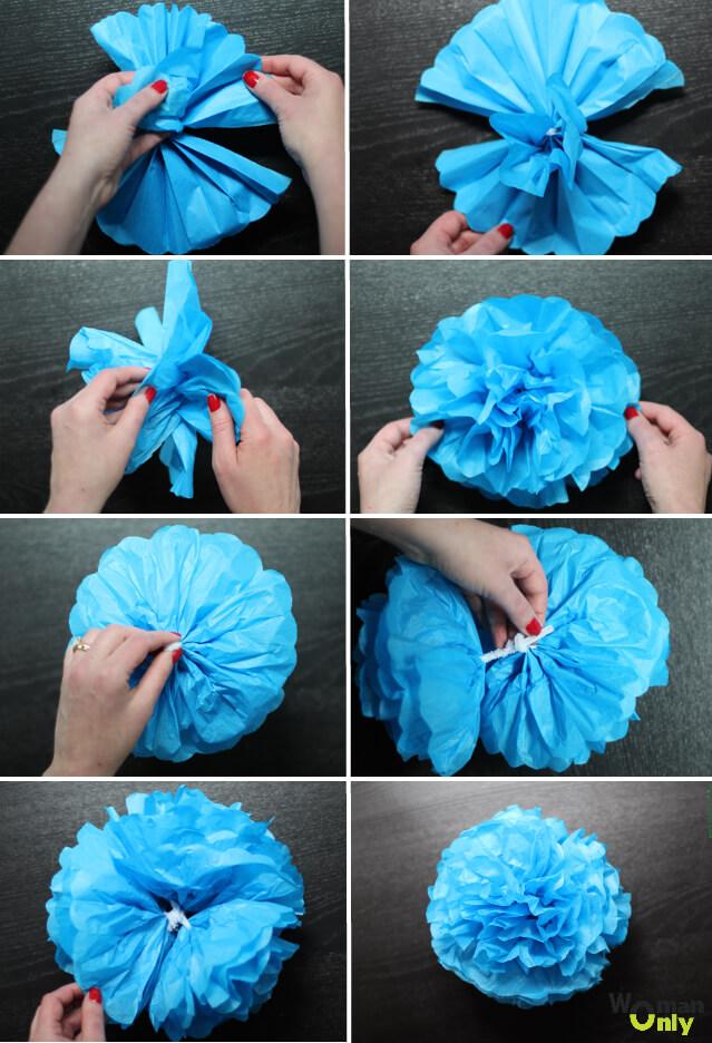 Как сделать цветочный шар из бумаги