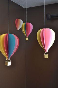 как сделать воздушный шар из бумаги