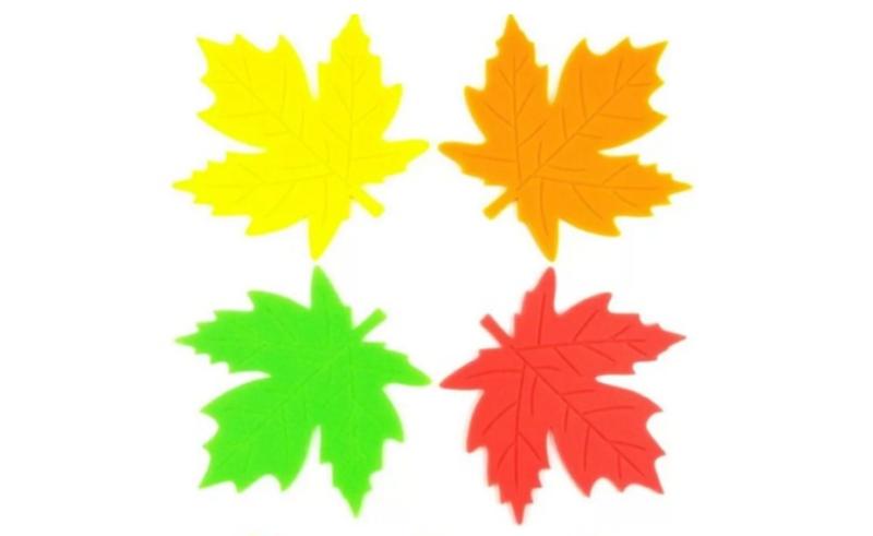картинки осенних листьев для вырезания цветные основу