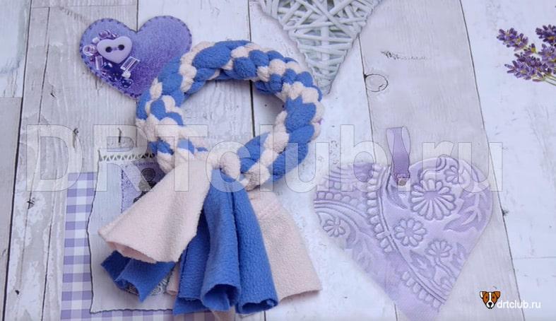 Плетёное колечко из флиса