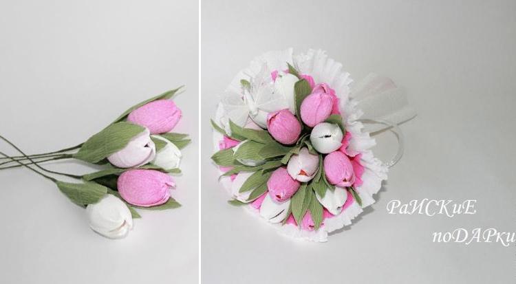 тюльпан из рафаэлло