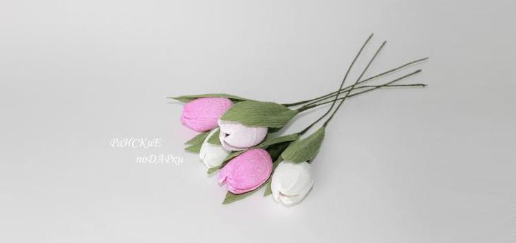 тюльпаны из гофробумаги