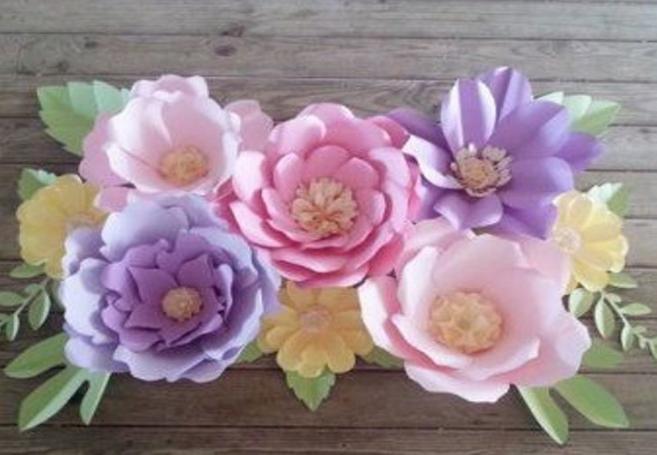Цветы из бумаги — схемы и шаблоны для создания бумажных цветов этап 61