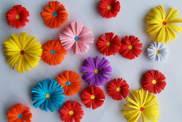 Цветы из бумаги — схемы и шаблоны для создания бумажных цветов этап 33