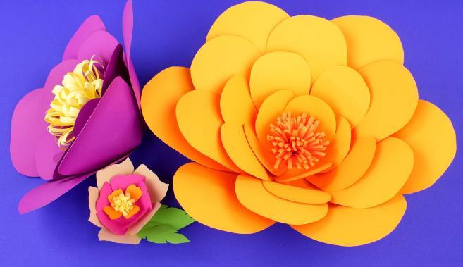 Цветы из бумаги — схемы и шаблоны для создания бумажных цветов этап 31