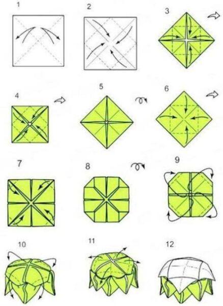 Цветы из бумаги — схемы и шаблоны для создания бумажных цветов этап 133
