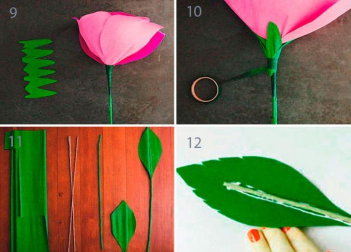 Цветы из бумаги — схемы и шаблоны для создания бумажных цветов этап 137