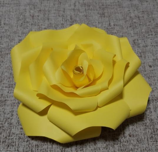 Цветы из бумаги — схемы и шаблоны для создания бумажных цветов этап 28