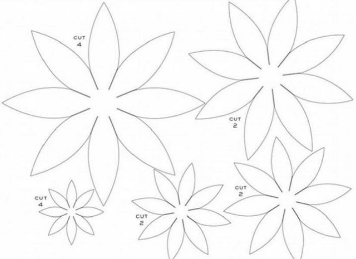 Цветы из бумаги — схемы и шаблоны для создания бумажных цветов этап 140
