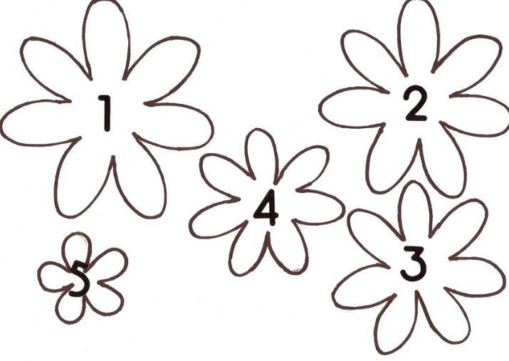 Цветы из бумаги — схемы и шаблоны для создания бумажных цветов этап 141