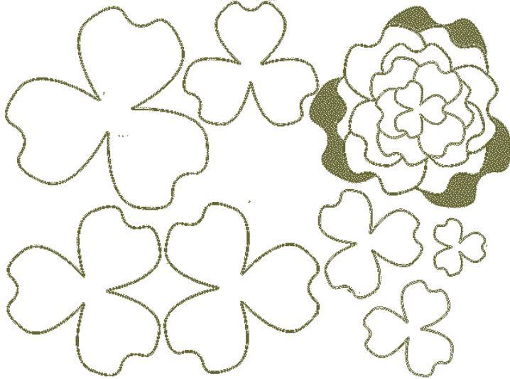 Цветы из бумаги — схемы и шаблоны для создания бумажных цветов этап 142