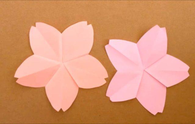 Оригами цветов яблони