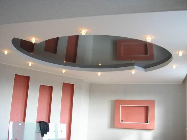 Потолок из гипсокартона видео