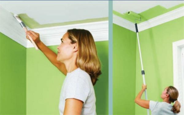 Как правильно покрасить потолок водоэмульсионной краской : полезные рекомендации