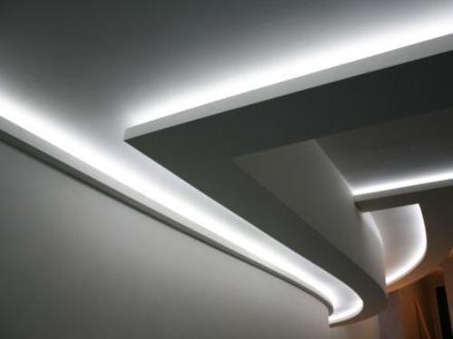 Как сделать потолок из гипсокартона с подсветкой : подробная инструкция