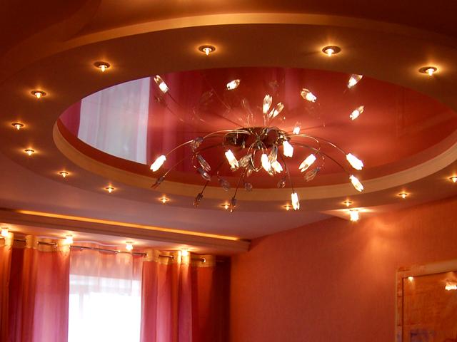 Установка люстры на натяжной потолок : этапы монтажа