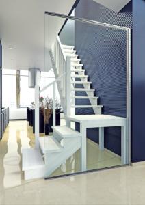 Межэтажная лестница на косоурах