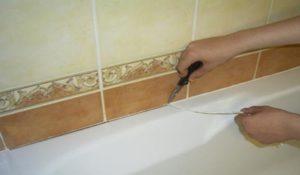 Способы герметизации стыка между стеной и ванной