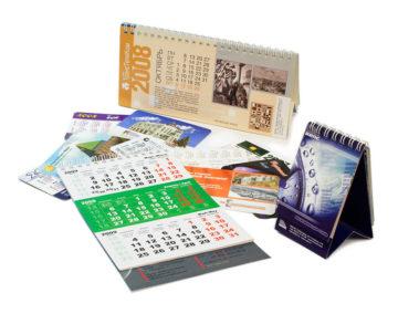Типы календарей и варианты печати для заказчиков