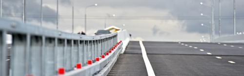 Построена эстакада-съезд с Калужского шоссе на строящуюся магистраль