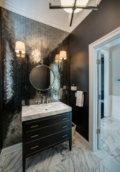 Зеркальная плитка в интерьере: 5 советов по применению + фото