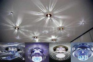 Как выбрать точечные светильники для разных комнат
