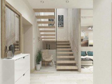 Дизайн прихожей с лестницей: правила оформления