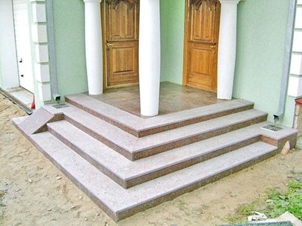 Как сделать бетонную лестницу на крыльцо