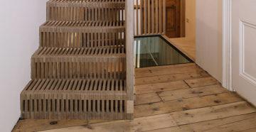 Лестница из фанеры со ступенями на второй этаж своими руками