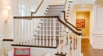 Лестница г-образная с площадкой: расчет и монтаж своими руками