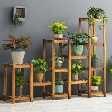 Подставка для цветов своими руками — 70 фото идей металлических и деревянных подставок для цветов
