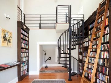 Лестница для библиотеки: инструкция по выбору конструкции своими руками (фото и видео)