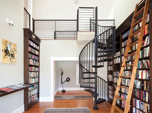 Обзор стульев-стремянок для библиотеки. Лестница для библиотеки ...