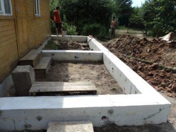 Фундамент под веранду своими руками: варианты обустройства, пошаговая инструкция строительства + фото