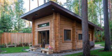 Баня с односкатной крышей: как строится односкатная крыша для бани