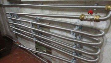 Монтаж системы отопления из гофрированных нержавеющих труб своими руками