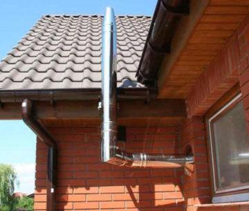 Дымоход для газового котла в частном доме:требования, материалы