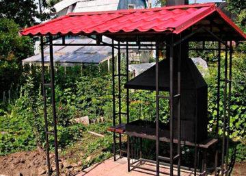 Как сделать на даче навес для мангала своими руками, фото и видео