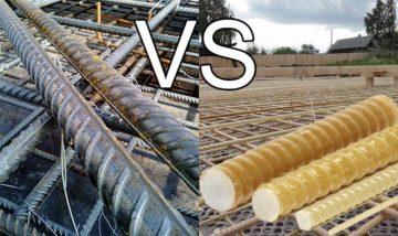 Сравнение композитной и металлической арматуры, какая арматура лучше: стеклопластиковая или стальная?
