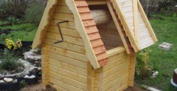 Домик для колодца своими руками: пошаговая инструкция разных крыш с чертежами и размерами