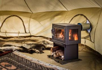 Печь для зимней палатки длительного горения