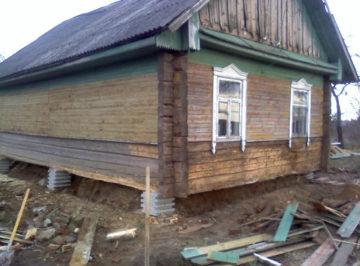 Ремонт старого фундамента деревянного дома своими руками: видео замены