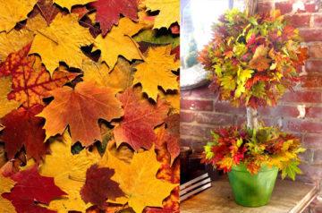 Поделки из осенних листьев своими руками: быстро и красиво, идеи для детского сада и школы