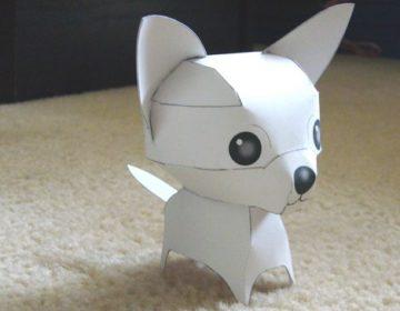 Как сделать собаку из бумаги — схема изготовления своими руками
